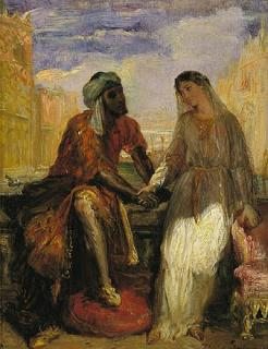 """""""Othello and Desdemona in Venice"""" by Théodore Chassériau (1819-1856)"""